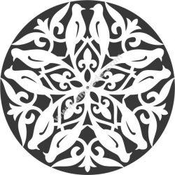 bird decorative circle
