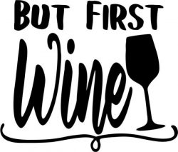 but first wine T-shirt print image