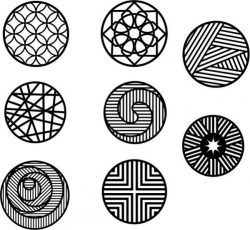 collection of circles with new motifs