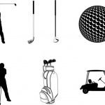 collection of golf playing icons