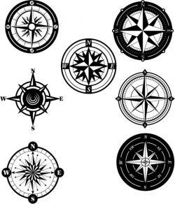 collection of unique compass patterns