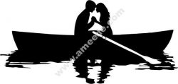 couple on the boat