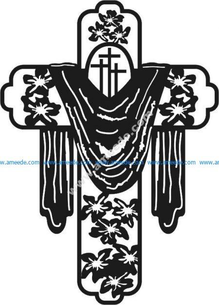 crosses - floral motifs