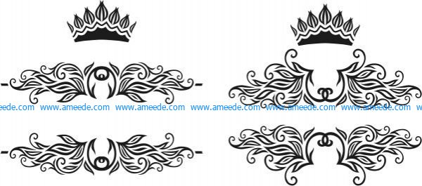 decorative crowns vector