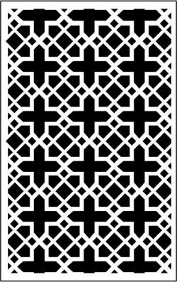 decorative panel screen cross file .cdr and .dxf free vector download for CNC cut