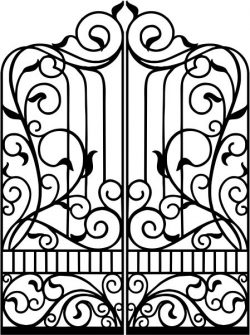 design pattern gate fence gate slender style