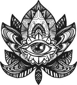 eye lotus vetor