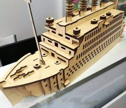 Tourist ship model