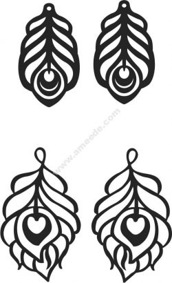 feather-shaped earrings