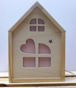 house shaped lamp file .cdr and .dxf free vector download for printers or laser engraving machines