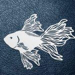 fighting fish pattern design