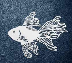 fighting fish pattern design