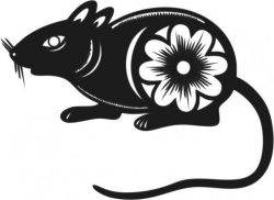 floral mouse happy new year 2020