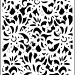Ornamental panels template