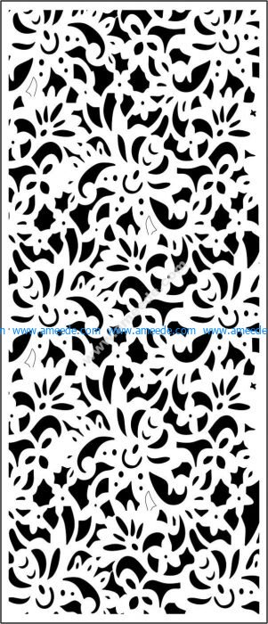 floral panels template