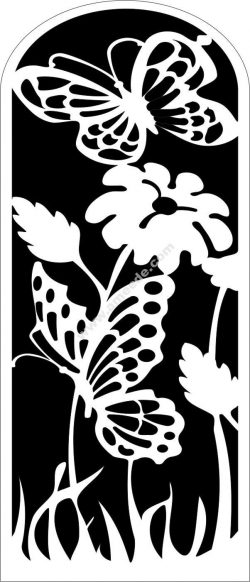 flower pattern cutting cnc butterfly flower