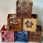 Floral engraving box pattern