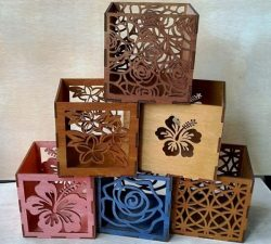 Floral engraving box pattern