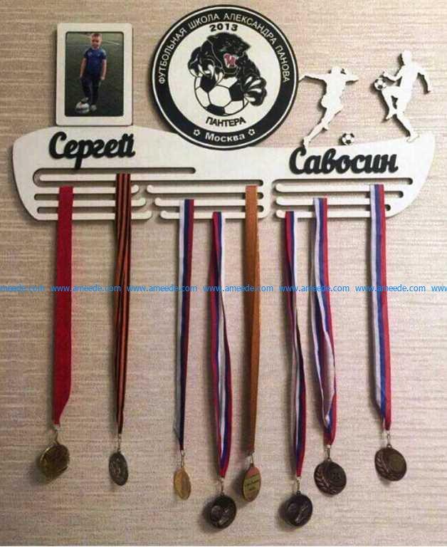 football medal shelf
