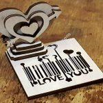 heart barcode love