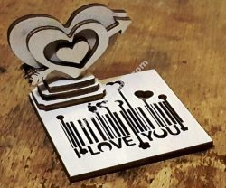 heart barcode love
