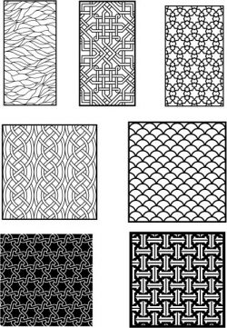 interwoven patterns are included in the partition design