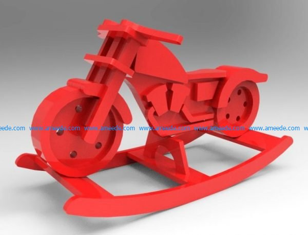 Free design vector file download for CNC and Laser motorcycle rocker
