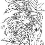 laser engraving eagle and flower