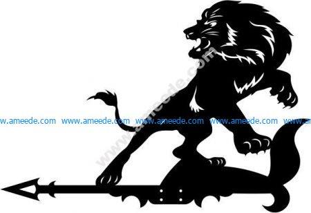 lion with arrow