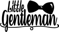little gentleman T-shirt print image