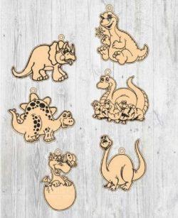 Dinosaur-shaped keychain