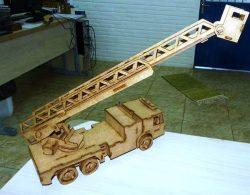 Wooden forklift model