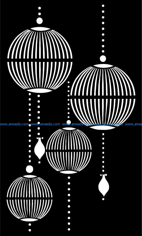 partitions shaped like lanterns