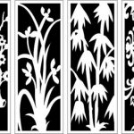 partitions with motifs of pine, bamboo, chrysanthemum and plum