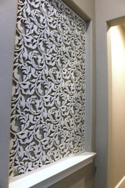 patterned wall design shaped leaves
