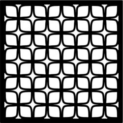 psychedelic square baffle design