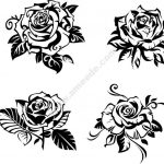 rose vector carving