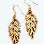 laser cut leaf-shaped earrings
