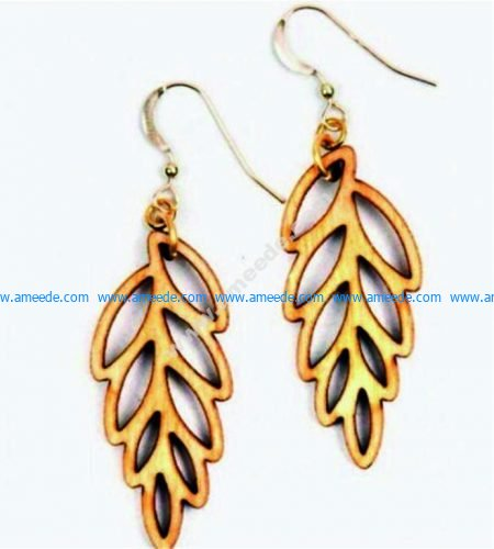 laser cut leaf-shaped earrings