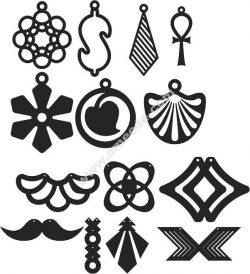 set laser cut earrings