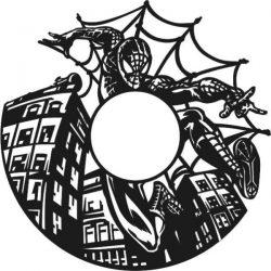spiderman wall clock