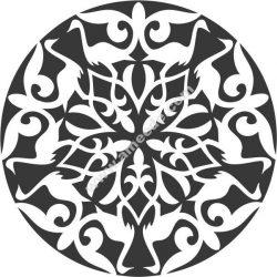 stork decorative circle