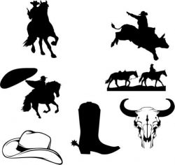 symbol of cowboy grazing in spain