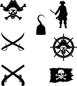 symbol of the pirates in the caribe