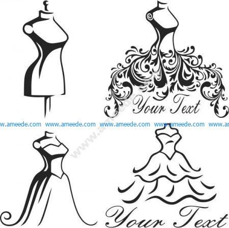 symbol of wedding dress