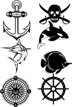 symbols of ocean and seafaring