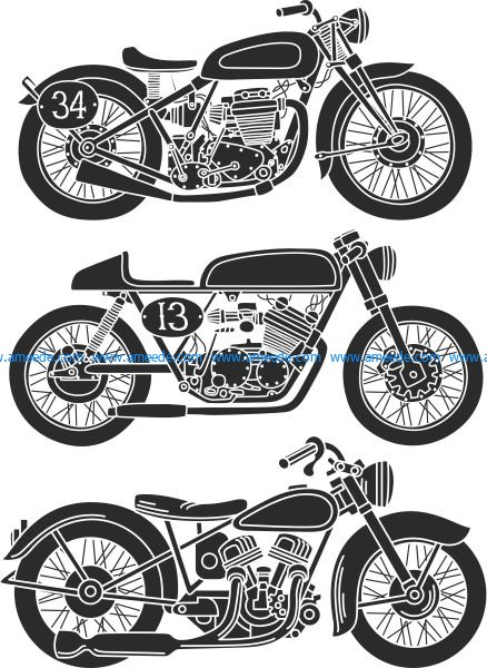 the old motorbikes have strange unique designs