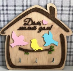 three bird key holder