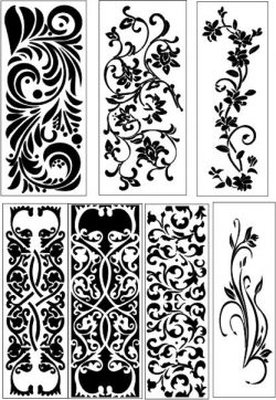 vines pattern panel screen