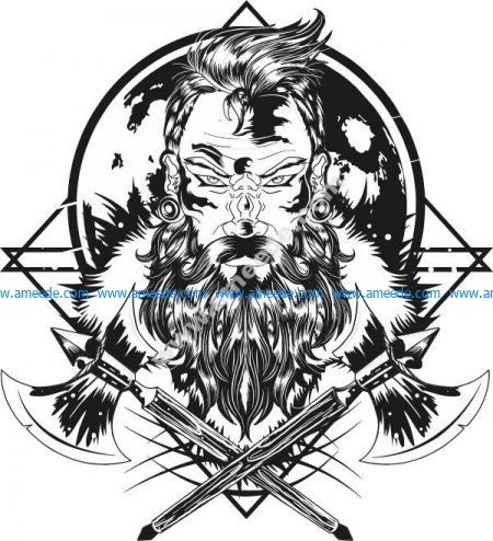 warrior with poleax